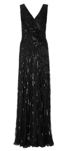 ARIELLA - Juliet Sequin Gown Black - £89
