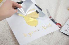 Deux Soeurs Un Agenda - Des idées pour le quotidien des parents: Comment imprimer en doré | Création, gold, print in gold, imprimer en doré, DIY, fait main, soi même, or, tutoriel