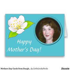 Turquoise PHOTO Mothers Day Cards from Daughter with your Mom's or Family SQUARE PHOTO and Your Message and Text. HERE: http://www.zazzle.com/mothers_day_cards_from_daughter_you_can_customize-137540298993953266?rf=238147997806552929 CALL Linda  to Crop or Upload Your Picture Mothers Day Presents and Cards. 239-949-9090  More Personalized Gifts for Mothers and Her: http://www.zazzle.com/littlelindapinda/gifts?cg=196629620389757891&rf=238147997806552929  http://www.Zazzle.com/LittleLindaPinda*