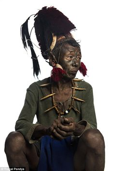 Ching Kum, 86, is famous in the tribe because he hunted the last head in 1990 while fighti...