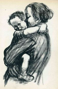 "by kathe kollwitz/ ""the most precious jewels you will ever have around your neck are the arms of your children."" love."