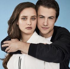 Dylan Minnette and Katherine Langford - Entertainment Weekly Photoshoot. they're so cute! but what bothers me is that his arm is over her hair #OCD