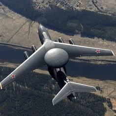 Russia's A-100, the most advanced airborne early warning and control aircraft (or AWACS) able to…»