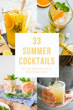 33 Summer Cocktails to try before that chilly fall weather hits | the INSPIRED home