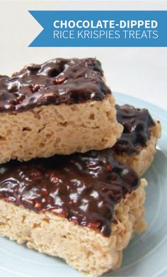 The simplicity of these Chocolate-Dipped Rice Krispies Treats® is what makes them so delicious. Make a batch of this fudgy dessert for an afternoon of fun with the kids.