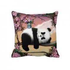 Panda pillows make a great gift for any panda lover. Panda Love, Panda Panda, Panda Bears, Little Things, Little Gifts, Panda Pillow, Pillow Inspiration, Girl Dolls, Wedding Gifts