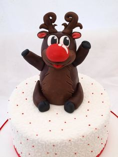Rudolf!!!!!  Cake by CakesbyHeatherJane