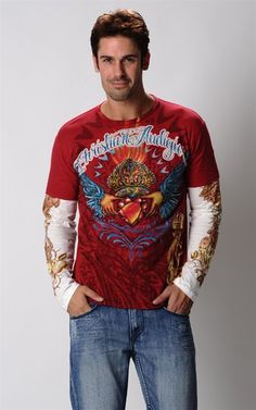 Dou Sleeve Tee-B8CFBQFE-Red $27.00 on Ozsale.com.au  And this too