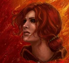 The Witcher - Triss Merigold The Witcher Books, The Witcher Game, The Witcher Geralt, Witcher Art, Ciri, Triss Merigold, Fantasy Images, Wild Hunt, Fantasy Girl