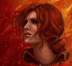 The Witcher - Triss Merigold The Witcher Game, The Witcher Geralt, The Witcher Books, Witcher Art, Ciri, Triss Merigold, Fantasy Images, Wild Hunt, Fantasy Girl