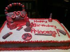 Purse/makeup cake