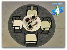 TS2-TS4 Conversion of Ohbehave Ikea Inspired Dining Set at Cool-panther Sims 4 Haven • Sims 4 Updates
