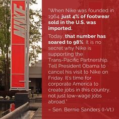 TPP is a rip off. And Bernie knows it and is telling us why! Thank you Bernie Sanders!