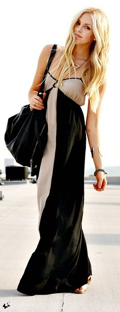 black + tan dress