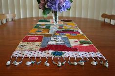 Recycled Kantha Table Runner. Hand Made and Fair Trade.