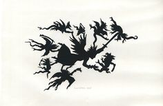 """Emil Lohse (""""Thilo Krapp Illustration: Scherenschnitte meines Urgroßvaters 