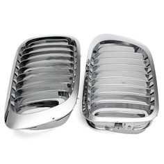 Silver Front Kidney Grille Grills For BMW E46 3 Series 2 Door 99-06  Worldwide delivery. Original best quality product for 70% of it's real price. Buying this product is extra profitable, because we have good production source. 1 day products dispatch from warehouse. Fast & reliable...