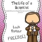 Included in this freebie is 1 close reading passage about the life of Louis Pasteur and one page of text dependent questions.  If you enjoy this fr...