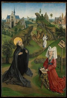 A574   Anonymous (Northern French)   The Legend of Saint Anthony Abbot with a Donor   ca. 1450   Painting   Oil on panel 114.3 x 78.7 cm    Metropolitan Museum of Art   New York, USA   Inv. nr. 32.100.108–11