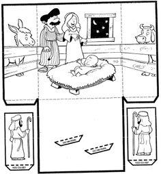 Jezus geboren, knutselen met kleuters / Nascimento+de+Jesus