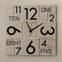 Multi Layer Wall Clock