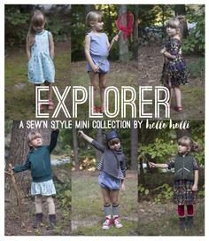 I've been working hard this past month (hence the radio silence over here) on a mini collection for the Lil Luxe Sew'n Style Series! I was asked to join the Sew'n Style blog tour and eagerly accept...