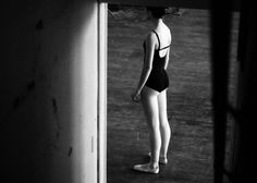 this gave me the idea of Senior ballerina leaving dance studio.  she is walking out the door and she looks back and waves goodbye