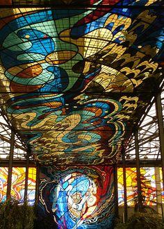 Cosmovitral artistry, Toluca, Mexico