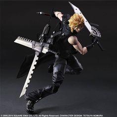 Final Fantasy VII Advent Children Play Arts Kai Action Figure Cloud 28 cm