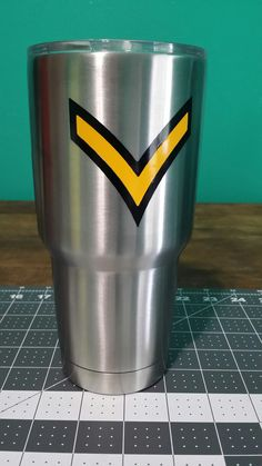 Custom Decals, Custom Tumbler, Ozark Trail, Army.