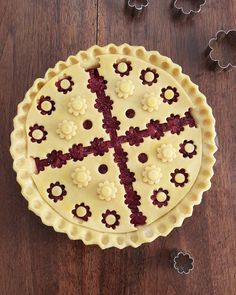 Cherry cutout cross pie