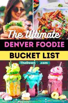 The Ultimate Denver Foodie Bucket List. The best downtown Denver restaurants you must try. With a view, with kids, for dinner and lunch, this cheap and delicious food is the top of the town. If you're looking for things to do in Colorado and unique photography spots, add eating to your bucket list because this is the ultimate restaurant guide for romantic fun for couples, for stoners, and everyone in between. Plan your weekend dining and meals now. #food #restaurants #denver #colorado…