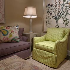 Isn't this C.R. Laine Whittier Swivel Chair fantastic?  The green ikat polka dot is right on trend (so fun!), and a swivel is so functional in today's multi-purpose spaces.   C.R. Laine (H/W 310 N. Hamilton, 2nd floor) #HPMkt