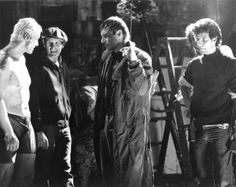 Rutger Hauer & Harrison Ford on the set of Bladerunner