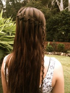 another twist to the waterfall braid (: