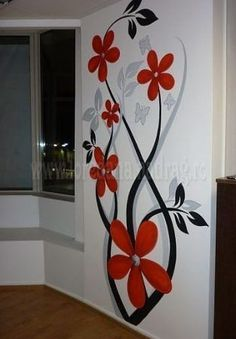 visit our website for the latest home decor trends . Wall Painting Decor, Diy Wall Art, Diy Painting, Painting Walls, Mural Art, Wall Murals, Cool Walls, Wall Art Designs, Home Design