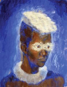 Pavel Tchelitchew Paintings | Pavel Tchelitchew - The Mask of Light - 1934 gouache on paper