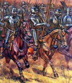 1610 07-04 Carga húsares polacos en la batalla de Klushino (Kłuszyn) - Aleksandr Telenik. Más en www.elgrancapitan.org/foro