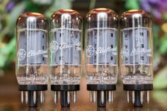 A QUAD OF 7591A POWER PENTODE VACUUM TUBES GE GENERAL ELECTRIC STRONG #GE