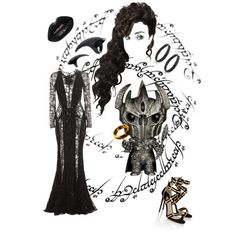 LOTR: Sauron by karmakaybee on Polyvore featuring Zuhair Murad, Paul Andrew and Bling Jewelry