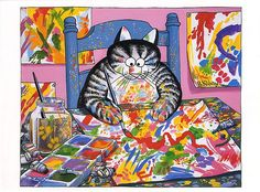 Artist Cat by B. Kliban