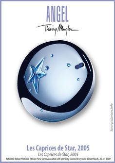 Collector's guide to Value of Thierry Mugler Angel Perfume Bottles limited edition Collecting Angel Parfum, Angel Fragrance, Fragrance Oil, Essential Oil Brands, Essential Oil Perfume, Thierry Mugler Angel Perfume, Essential Oil Aphrodisiac, Swarovski, Perfume Collection