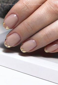 Chic Nails, Stylish Nails, Short Nail Designs, Simple Designs, Gold Nail Designs, Nail Design For Short Nails, Best Nail Designs, Bridal Nails Designs, Neutral Nail Designs