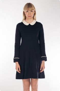 Jumperfabriken klänning - calistaxs High Neck Dress, Dresses For Work, Lifestyle, Navy, Fashion, Turtleneck Dress, Hale Navy, Moda, Fashion Styles