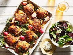 For the best chicken shawarma at home, rub chicken thighs with freshly toasted spices, sear on the stove, and finish in the oven. Radish Recipes, Duck Recipes, Turkey Recipes, Turkey Dishes, Roasted Radishes, Roasted Vegetables, Roasted Chicken Thighs, Chicken Spices, Chicken