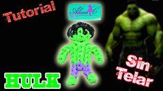 ♥ Tutorial: Hulk de gomitas (sin telar) ♥