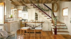 Charming Kitchen | A charming carriage house on Maine's rocky coast gets infused with holiday spirit—and classic coastal character. Step inside!