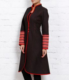 Black & red pure cotton #Quiltedjacket by Jaipur Pitara brand