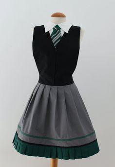 Harry Potter Slytherin inspired apron by LyraFashion on Etsy