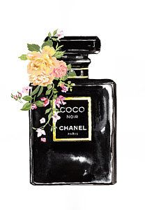 Chanel Perfume With Flower Art Print Chanel Wall Art, Chanel Decor, Chanel Wallpapers, Cute Wallpapers, Dior Vintage, Chanel Poster, Parfum Chanel, Photo Deco, Foto Fashion